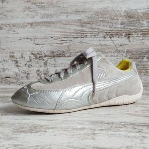🔴Puma Gray Suede Silver Sneakers